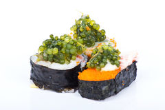 Grapes seaweed sushi Stock Photography