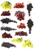 Grapes  set  isolated. Stock Photography