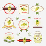 Grapes, a set of label design Royalty Free Stock Images