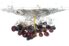 Grapes Splash Stock Photography