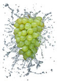 Grapes splashing in water Stock Image