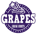 Grapes stamp Royalty Free Stock Photo