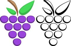 Grapes symbols Royalty Free Stock Images