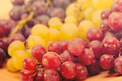 Grapes on table Royalty Free Stock Photos