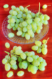 Grapes on table Stock Photography
