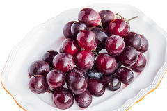 Grapes. Three grapes on white background Stock Photography