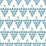Grapes Vector seamless pattern isolated. Blue juice berries on white. Food background. Fruit illustration. Use for card, menu royalty free illustration