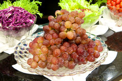 Grapes with vegetable Royalty Free Stock Photo