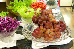 Grapes with vegetable Royalty Free Stock Photos