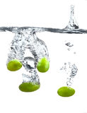 Grapes in the water Royalty Free Stock Images