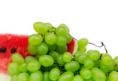 Grapes and water-melon Royalty Free Stock Image