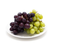 Grapes on white Royalty Free Stock Photo