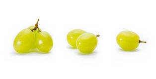 Grapes  on white Stock Photography