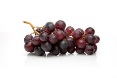 Grapes on white background - close-up stock photo