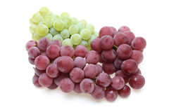 Grapes in a white background Stock Photography