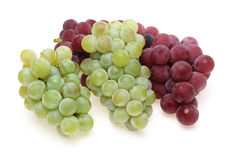 Grapes in a white background Stock Images