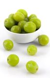 Grapes and White Bowl Stock Images