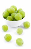 Grapes and White Bowl Two Royalty Free Stock Photography