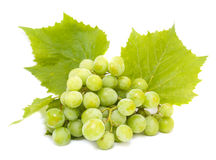 Grapes white with leaves Royalty Free Stock Photo