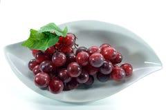 Grapes On White Stock Photos