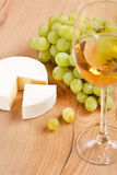 Grapes and white wine. Still-life with bunch of grapes and white wine royalty free stock images