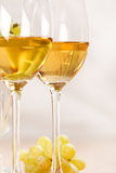 Grapes and white wine. Still-life with bunch of grapes and white wine stock images