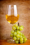 Grapes and white wine Stock Photo