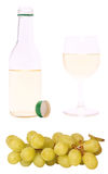 Grapes and white wine Royalty Free Stock Photos