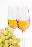Grapes and white wine. Still-life with bunch of grapes and white wine stock photos