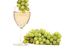 Grapes in white wine stock images