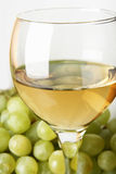 Grapes and white wine Royalty Free Stock Photo