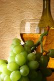 Grapes and white wine. Still-life with bunch of grapes and white wine royalty free stock photography