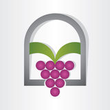 Grapes on window design Royalty Free Stock Images