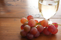 Grapes and wine Stock Images