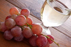 Grapes and wine Royalty Free Stock Images