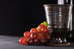 Grapes and wine cup Royalty Free Stock Images