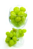 Grapes in wine glass Royalty Free Stock Photo