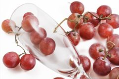 Grapes and wine glass Royalty Free Stock Photos