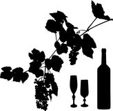 Grapes, wine and glass Royalty Free Stock Photo