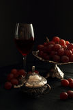 Grapes and wine Royalty Free Stock Image