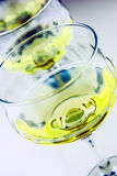 Grapes and wine glasses Stock Photography