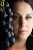Grapes woman Stock Photo