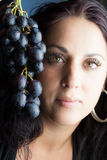 Grapes woman Royalty Free Stock Photography