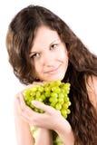 grapes woman young Στοκ φωτογραφία με δικαίωμα ελεύθερης χρήσης