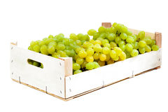 Grapes in a wooden box Royalty Free Stock Photos