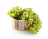 Grapes in a wooden tub Stock Image