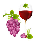 Wine with grapes Royalty Free Stock Photo