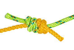 Grapevine knot of two ropes Stock Photography