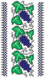 Grapevine needlepoint  border. Grapevines needlepoint border in blue and green Stock Photos