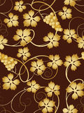 Grapevine  seamless pattern Royalty Free Stock Photo